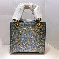 luxury designer mini tote women Genuine Leather Handbags female chain Shoulder Messenger Bag ladies hand bag small clutch purse