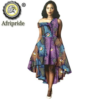 African Print Dresses for Women Off Shoulder Midi Dress Floral Dashiki Ankara Clothing Plus Size Ladies Bazin Riche S2025014