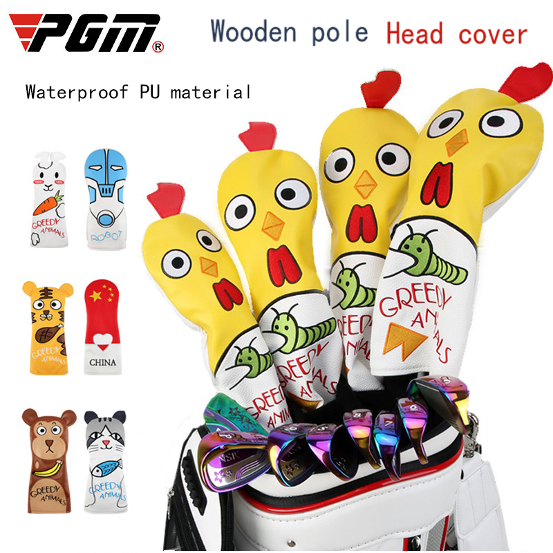4 Pcs / Set Golf Club Head Covers 135UT Waterproof Rod Set Cartoon Rod Set Monkey Kitten Robot Rabbit Chick Tiger Pentagram