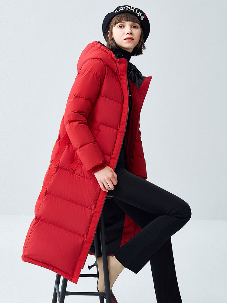 The new winter 2019 over-the-knee long   down   jacket female loose thickening leisure warm   down     coat
