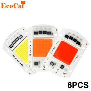 6 Pcs COB LED Chip 220V 50W 30