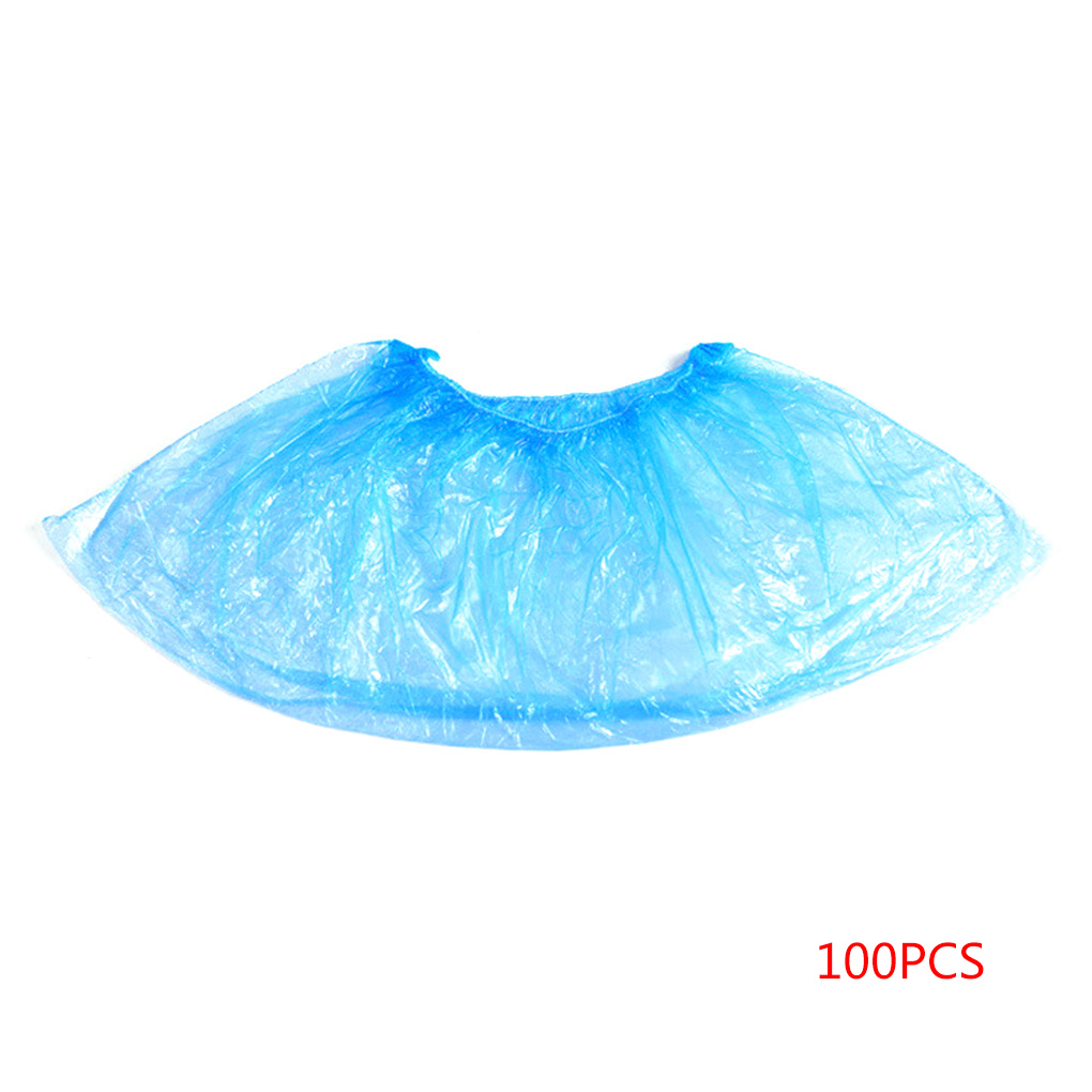 100PCS Disposable Boot Shoes Covers Indoor Protect Home Floors Outdoors Water Resistant Cover Blue Waterproof Shoe Covers