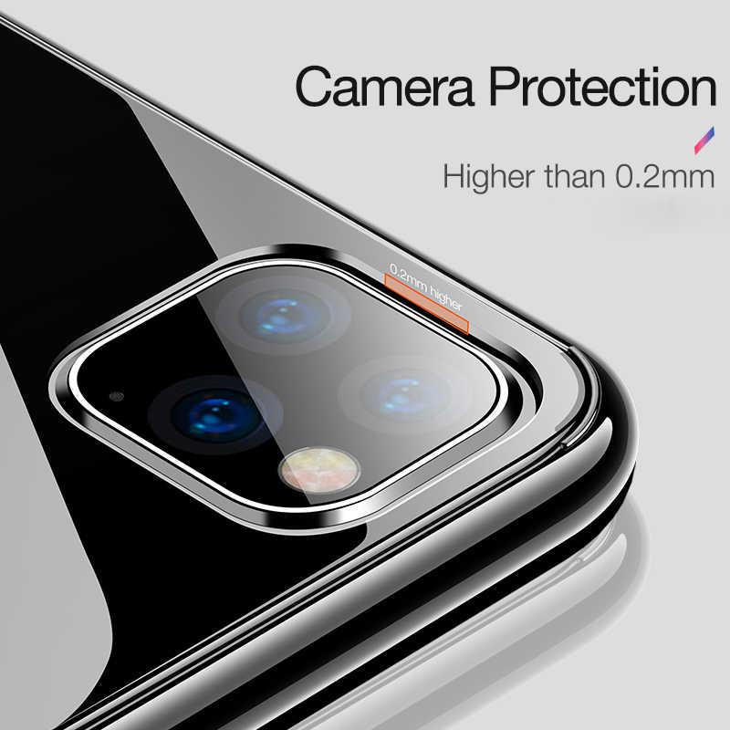 Funda de silicona blanda y transparente ultrafina para iPhone 11 Pro X XR XS Max para iPhone 4 5 6 7 8 Plus funda de lujo Delgada funda de Coque