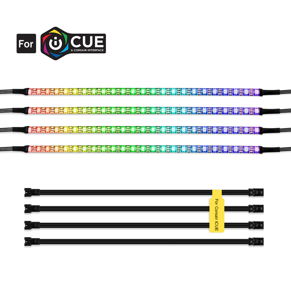 Addressable RGB LED Strip For PC , WS2812b Digital Light Strip For PC Case , For CORSAIR ICUE 3 Pin 5V ADD Header On Motherboard