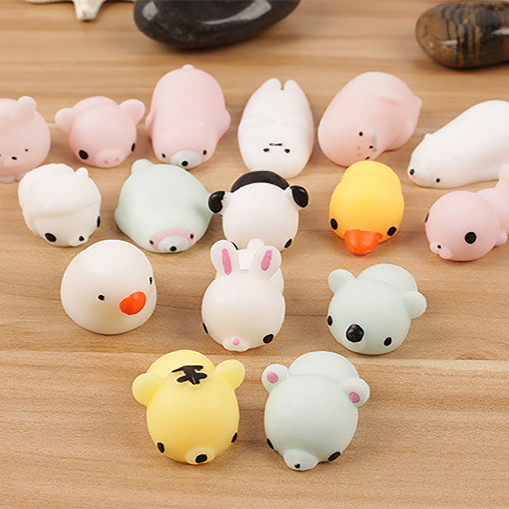 Hand-Fidget-Toys Squeeze Gift Mochi Cat Stress Reliever Squishy Antistress Kawaii Toy img5