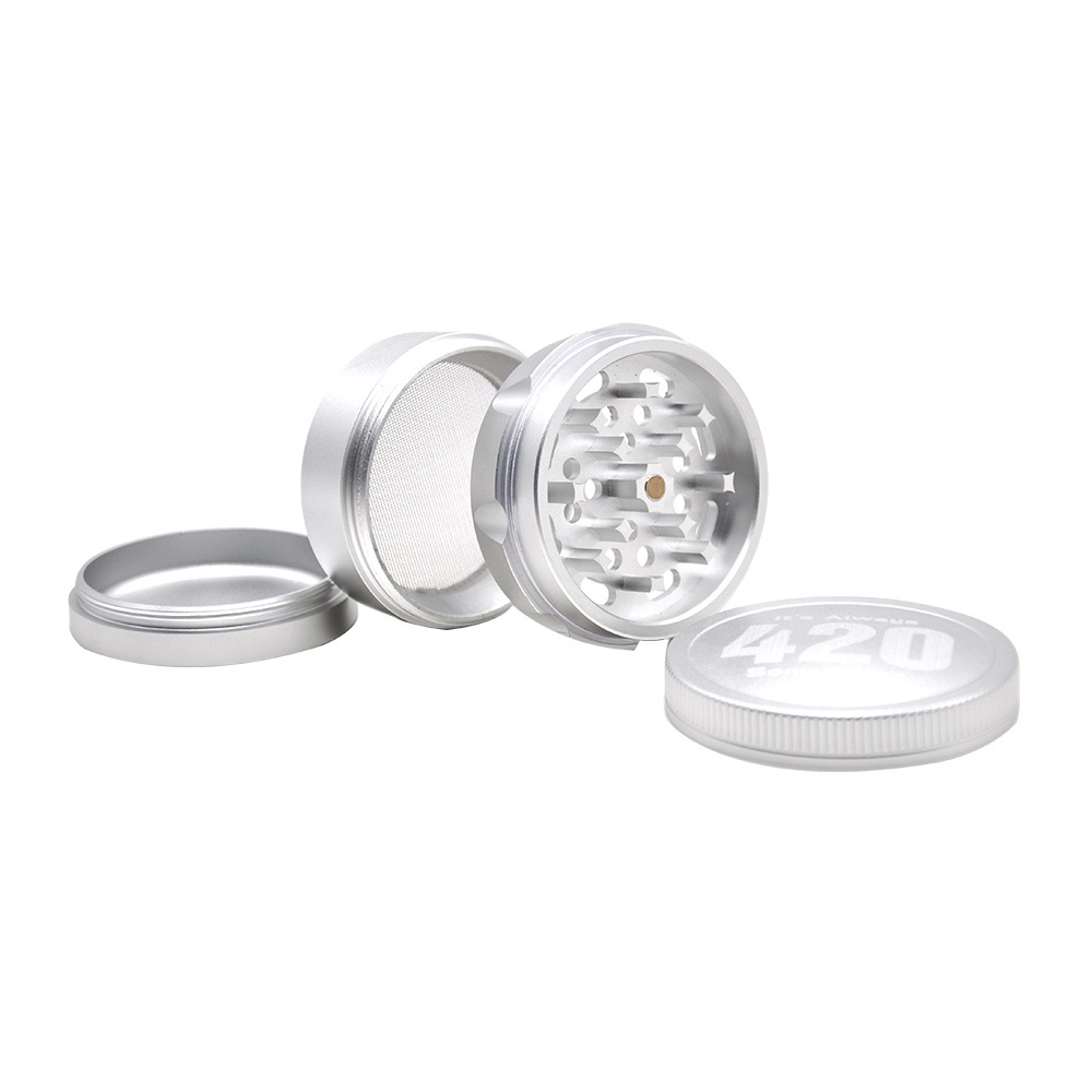 Aircraft Aluminum Herb Tobacco Grinder with Diamond Teeth 63 MM 4 Layers Herb Grinder Crusher Spice Grinder 5