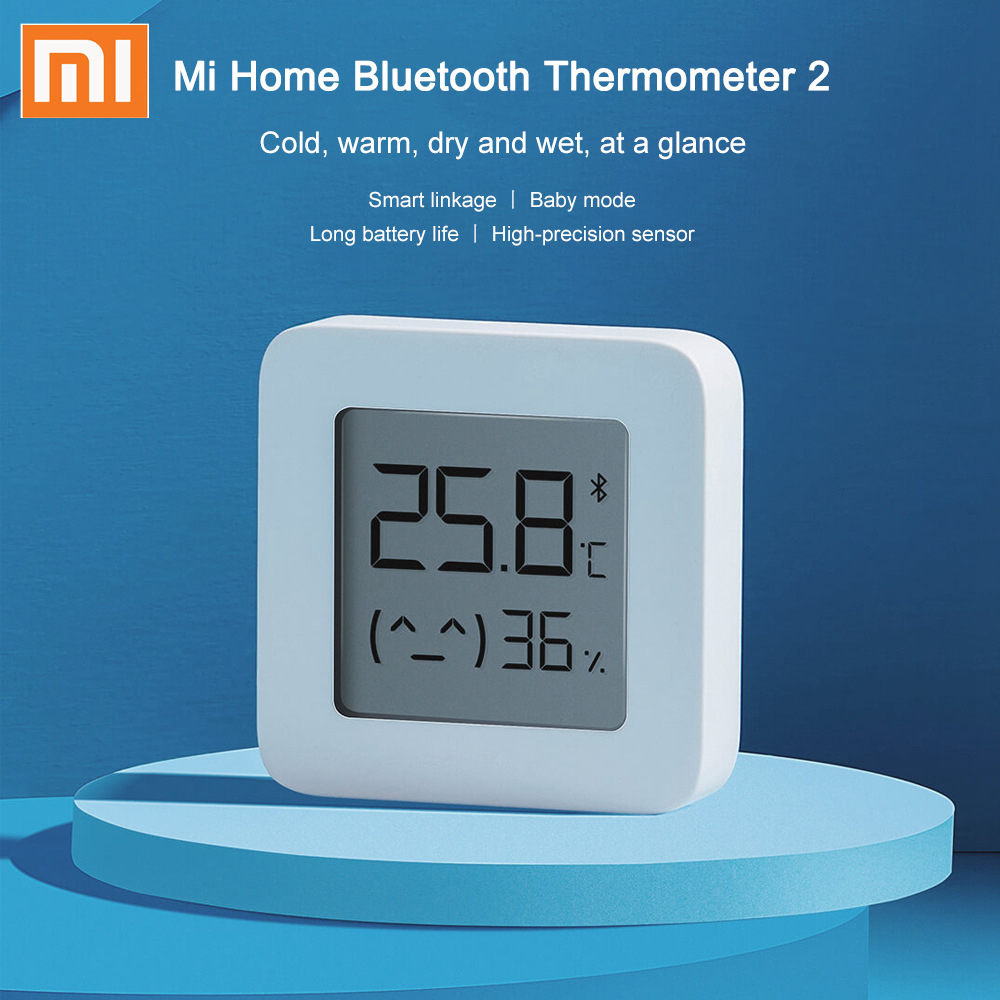 XIAOMI Mijia Bluetooth Digital Thermometer 2 Wireless Smart Temperature Humidity Sensor Hygrometer Work With Mijia App