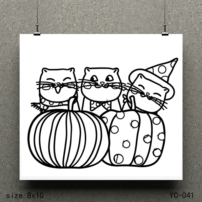 ZhuoAng Three cats model Clear Stamps For DIY Scrapbooking/Card Making Decorative Silicon Stamp Crafts