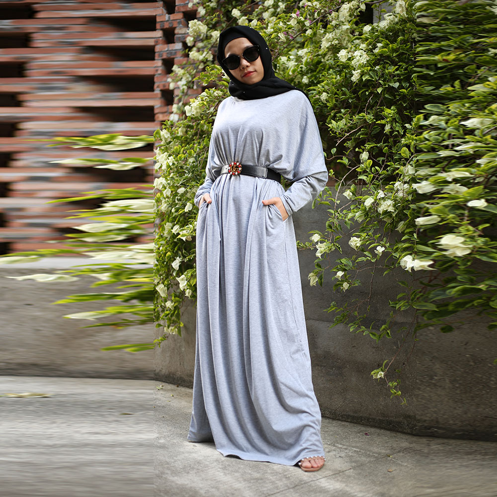 One Size Length 145 Cm Women Abaya Kaftan Dubai Hijab Muslim Dress Caftan Marocain Turkish Dresses Islam Clothing Djelaba Femme