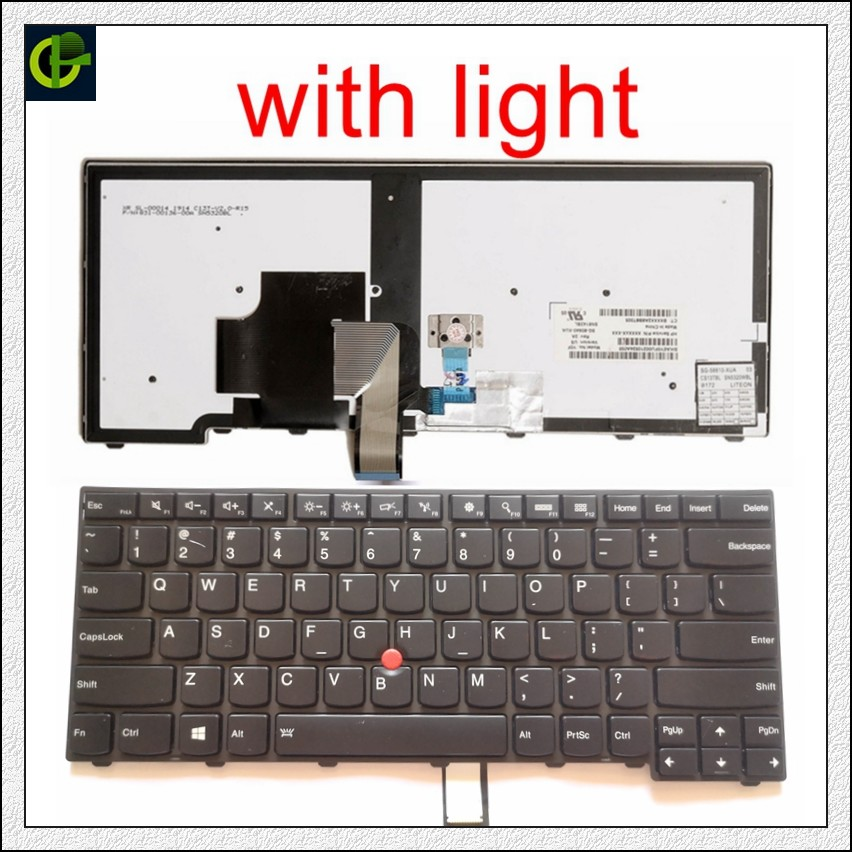 Original Backlit English Keyboard for lenovo ThinkPad L440 L450 