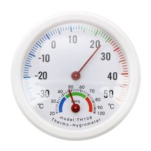 Термометр гигрометр игла Круглый циферблат тестер внутренний внешний белый