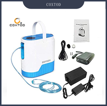 цена на COXTOD Battery Genuine Portable Oxygen Concentrator home travel with car recharger AC100V-240V /DC12V-16.8V oxygen generator
