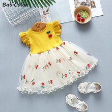 Baby girls summer wedding dresses newborn baby fashion cotton lace princess party dress for bebe girls toddler birthdays clothes