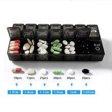 1/2 pacote 7 dias caso comprimido semanal 28 grades medicina tablte dispensador organizador caixa de pílula armazenamento organizador recipiente