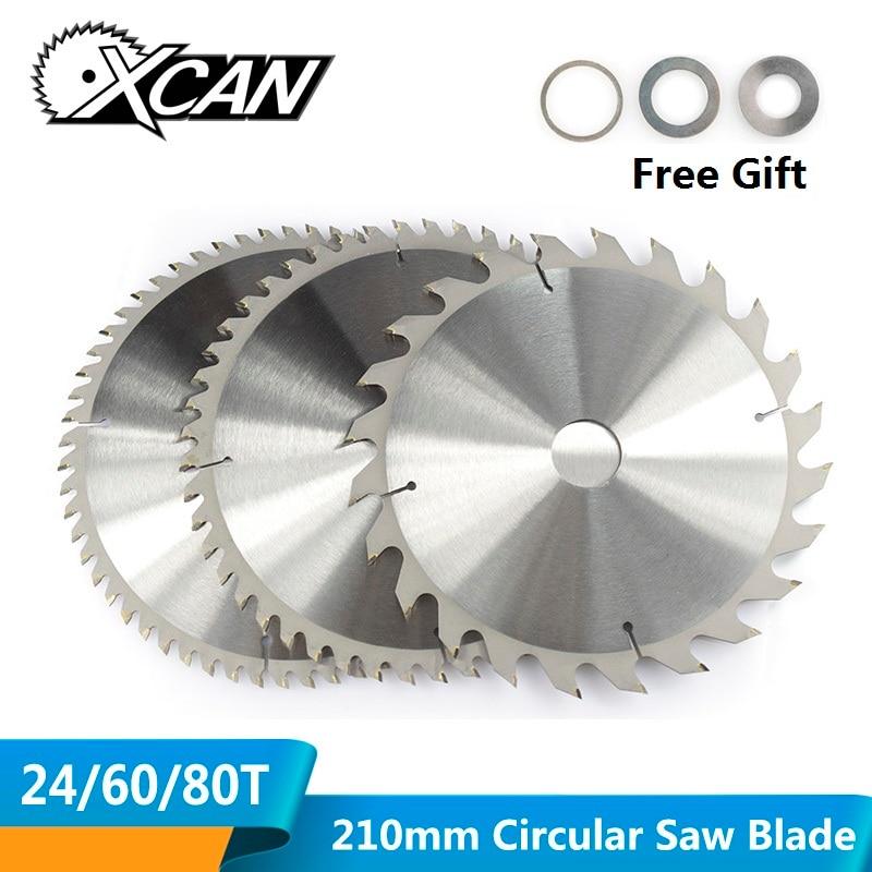 XCAN 1pc 210mm Diameter 24/60/80T TCT Saw Blade Circular Blade Carbide Tipped Wood Cutting Disc