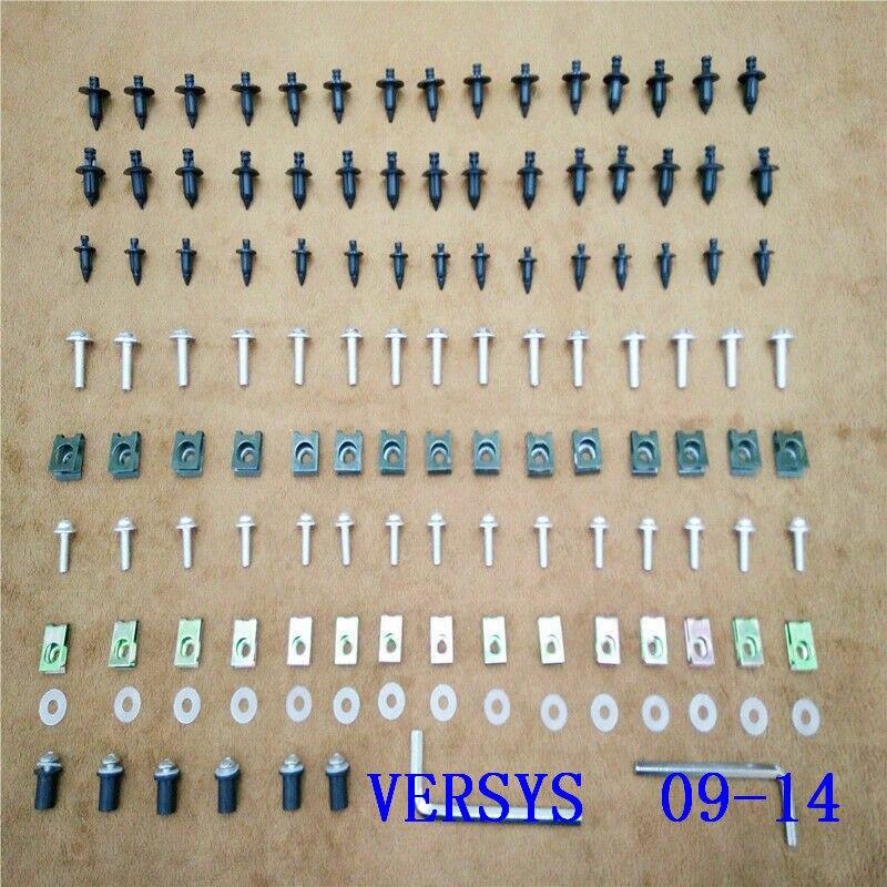 Fixation de vis de boulon de carénage pour ajustement pour Kawasaki VERSYS (650cc) 2009-2014