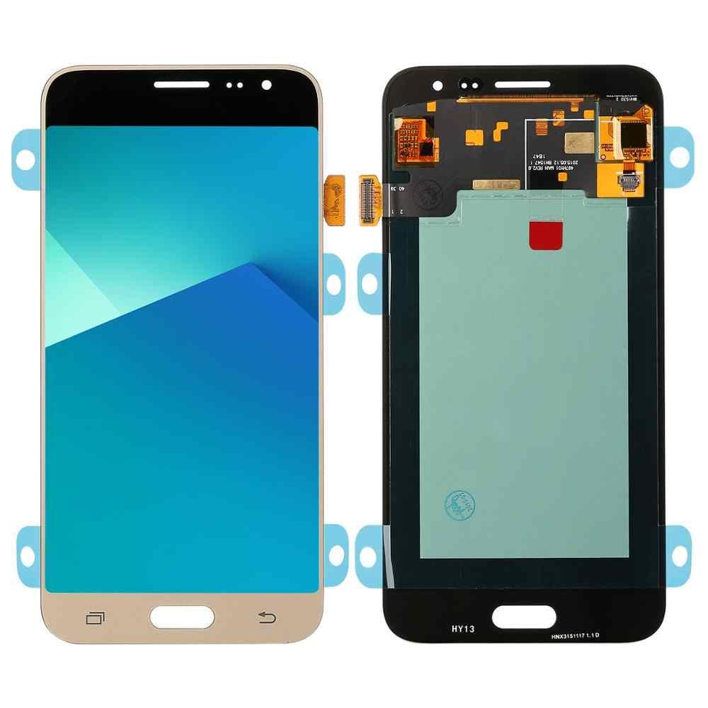 لسامسونج غالاكسي J3 2016 J320 J320A J320F J320P J320M J320FN شاشة الكريستال السائل + مجموعة رقمنة اللمس سوبر Amoled LCD