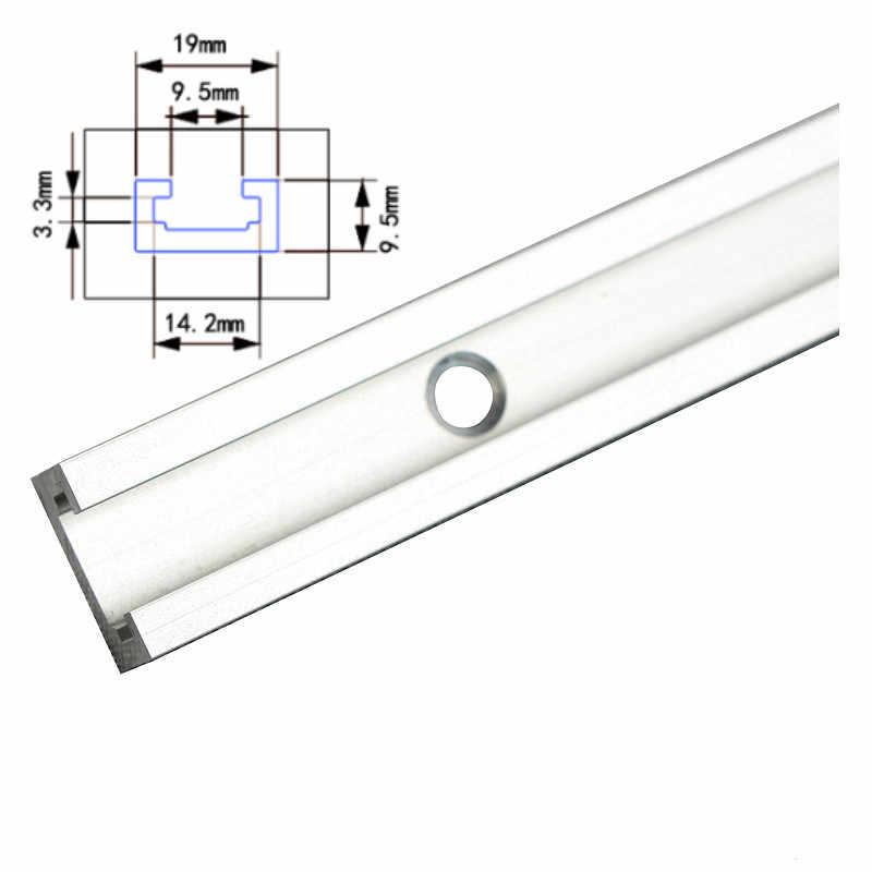 Ze stopu Aluminium ze stopu Aluminium T-slot slajdów tor T-śledzi prowadnica ukośna dla piła do obróbki drewna/tabeli routera stół warsztatowy typ narzędzia-19