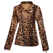 Wholesale drop ship women's plus size clothing jacket leopard pattern cropped xxxl 5xl large high street fashion vintage design(China)