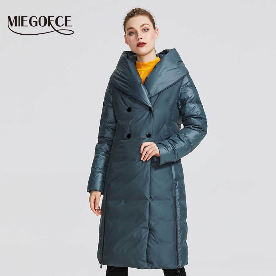 MIEGOFCE 2019 New Winter Women's Collection Women Winter Jacket Coat Unusual Design Sewn From Two Materials Women's Parkas