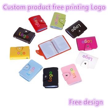 50pcs customize products Free print logo ID Credit Card Wallet creative Vintage Cash Holder Organizer Case Box Wallet Business