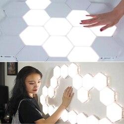 NEUE 10 stücke Quantum lampe led modulare touch sensor empfindliche beleuchtung lampe magnet kreative dekoration wand lampara LED nacht ligh