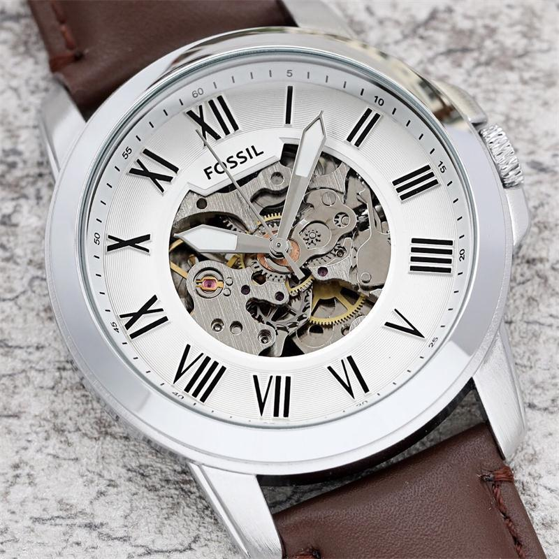 FOSSIL Mens AAA Watch Fashion Brand Quartz watch Mens Chronograph Sports Watches with Leather Strap