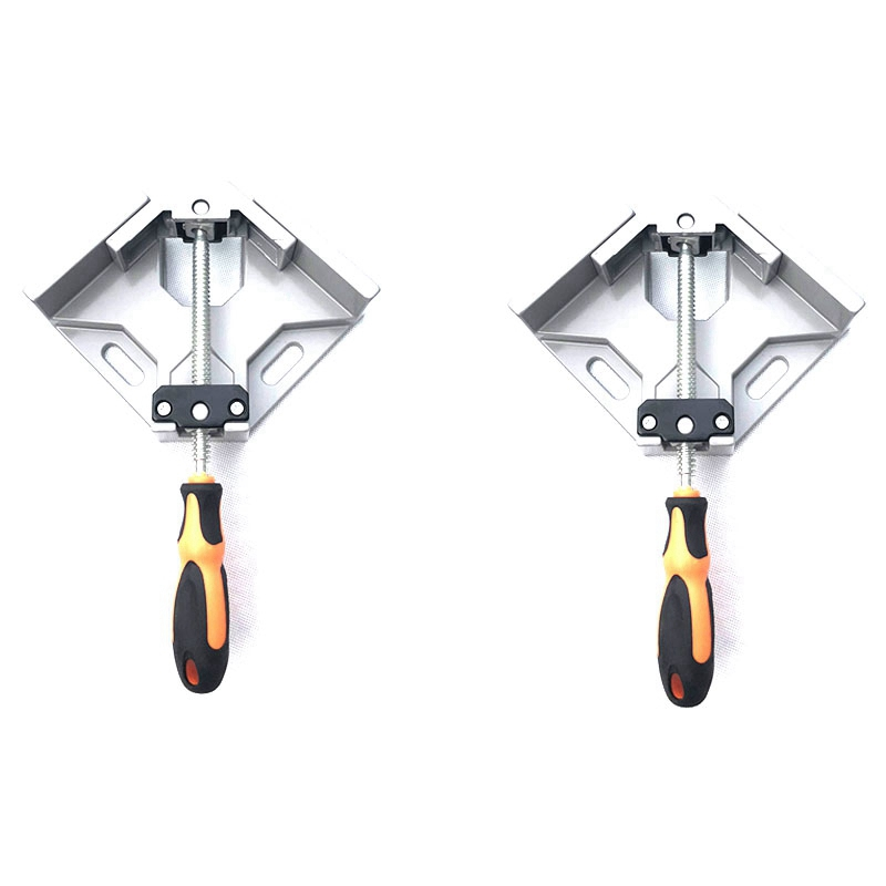2 Set Of 90 Degree Corner Clamp Right Angle Clamp Aluminum Alloy Made Adjustable Swing Jaw Corner Clamp Woodworking Vice Wood Me|Calipers| |  - title=