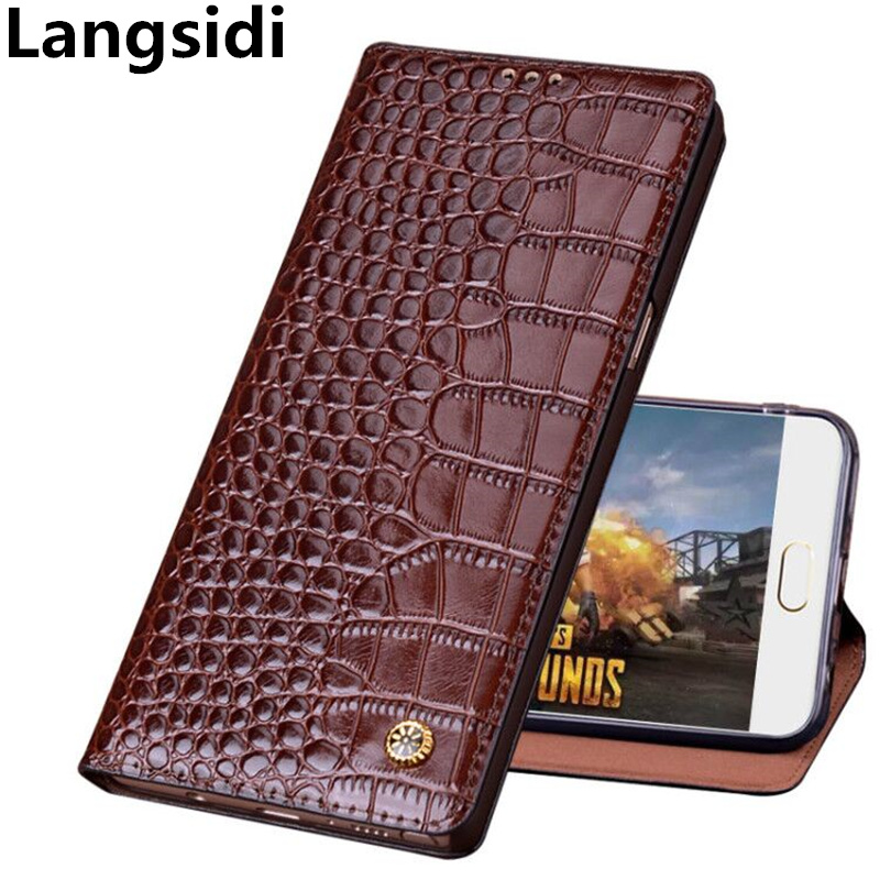 Crocodile pattern genuine leather standing flip case for Samsung Galaxy J8 2018 case for Samsung Galaxy J6 2018 phone cover case