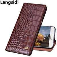 Crocodile pattern genuine leather standing flip case for Samsung Galaxy J4 2018 case for Samsung Galaxy J8 2018 phone case coque
