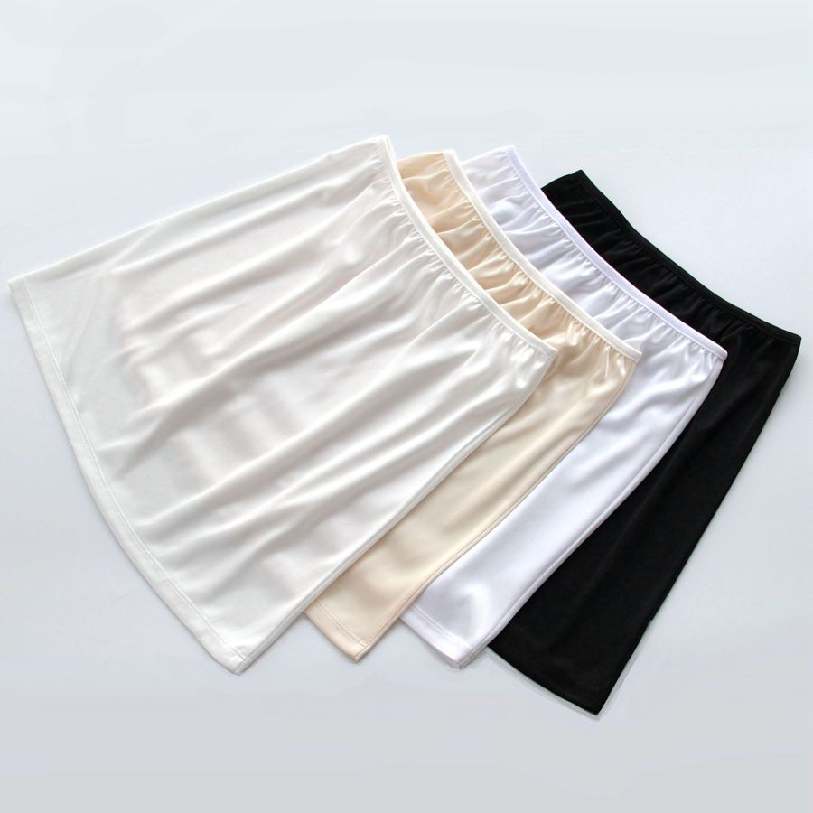 Summer Slips Women's Casual Mini Loose  Vestidos Underskirt Skirts.Ladies Basic Half Petticoat Underdress Skirt