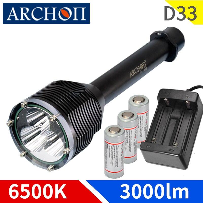 original archon d33 mergulho lanterna cree xm l2 01