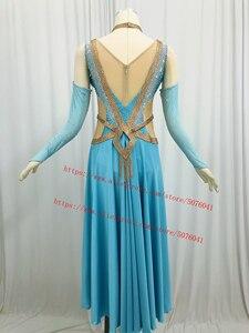 Image 4 - Advanced Ballroom Competition Dance Dress New Design Elegant Standard Modern Dancing Skirt Women Waltz Ballroom Dance Dresses