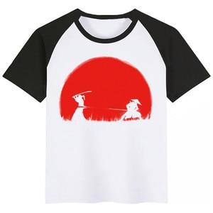 Bushido Crianças Booba Bonito Impressão Dos Desenhos Animados T-shirt Das Meninas/Meninos Engraçados Do Bebê Roupa Dos Miúdos Verão Curto Camiseta Manga