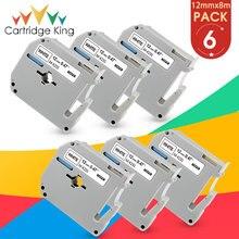 Label-Tape MK231 Black PT-70 for on White 12mm--8m 6PK PT-M95 PT-65