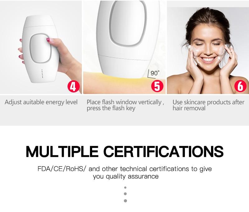 600000 flash lazer depilação profissional permanente depilador