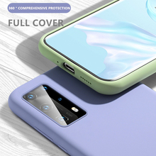 Liquid Silicone Case For Huawei P40 P30 P10 Lite Pro Candy S