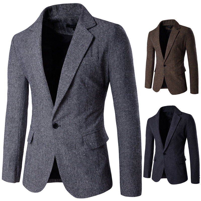 OLOME Fashion Mens Brand Blazer British's Style Casual Slim Fit Suit Jacket Male Blazers Men Coat Jacket For Men Autumn Winter
