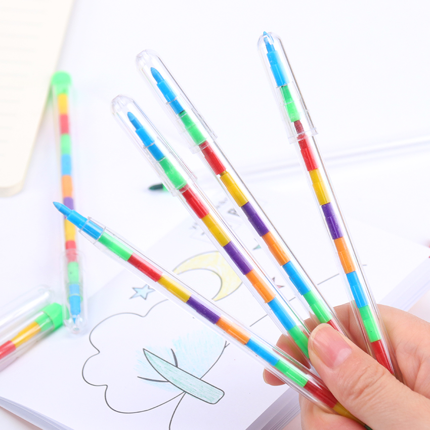 1PC Multicolor DIY Replaceable Crayons Oil Pastel Creative Colored Pencil Graffiti Pen For Kids Painting Drawing Cute Stationery