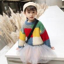 Jo & mi 2020 детские модные свитера Разноцветные для девочек