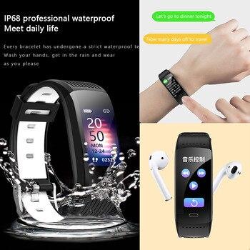 2021 Silicone Bracelet Smartwatch Men Women Smart Watch Fitness Tracker For Android iOS Smart Clock Sport Waterproof Smart-Watch 6