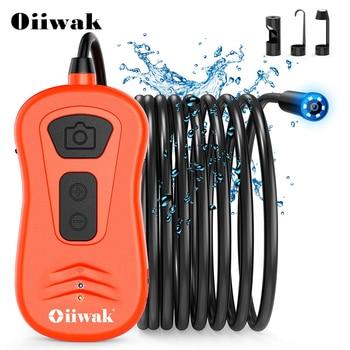 Oiiwak 8.5mm WiFi Endoscope Inspection Camera Snake Camera 5.0MP 1944P HD Wireless Borescope 6X Zoom Microscope for Smartphone
