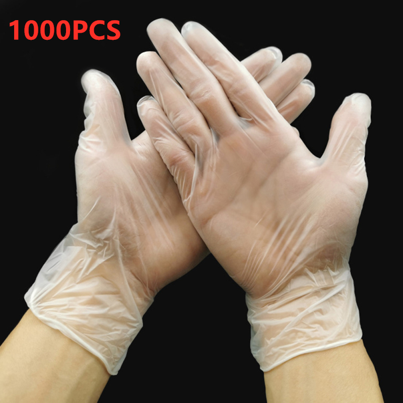 1000pcs Disposable FFP3 Gloves Anti-static Glove For Food Cleaning Cooking Beauty Salons Waterproof Hand Type Gloves For Medical