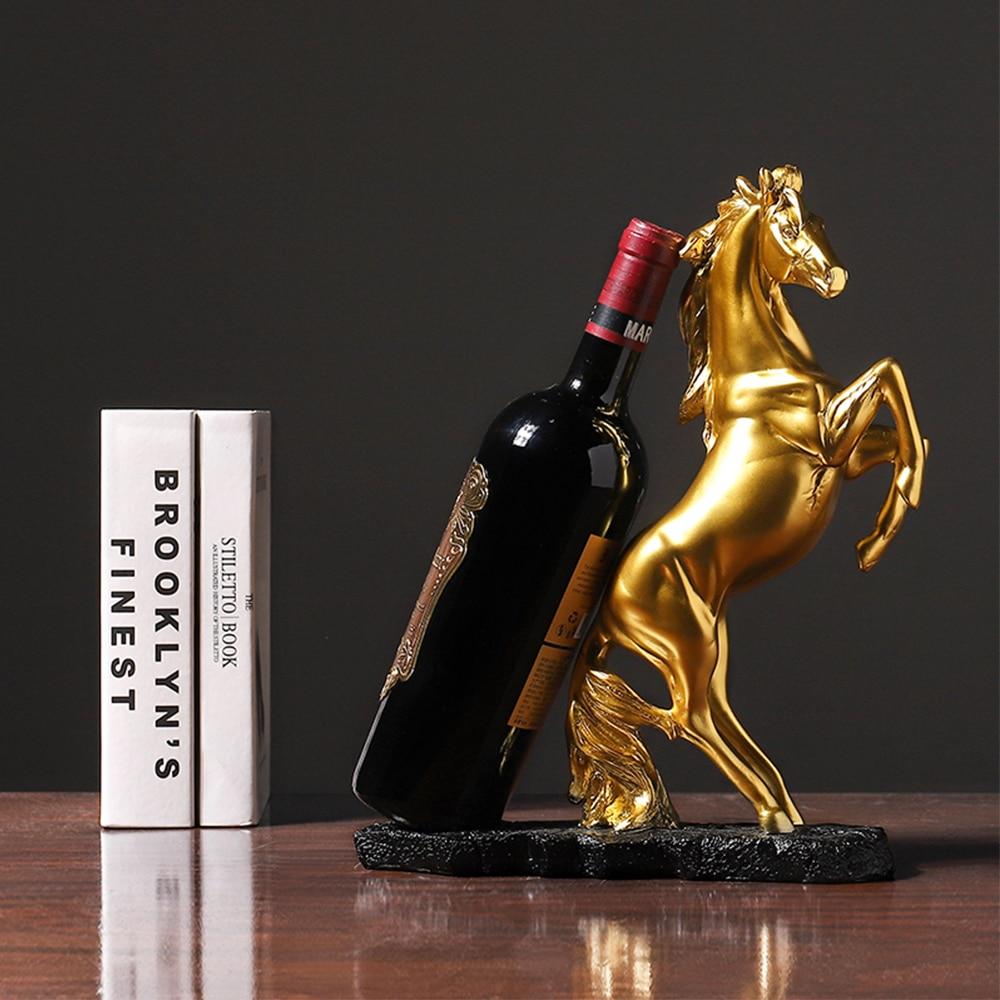 Golden Statue Resin Horse Sculpture Handicraft Decoration Desktop Furnishings Home Cabinet Decoration Just6F