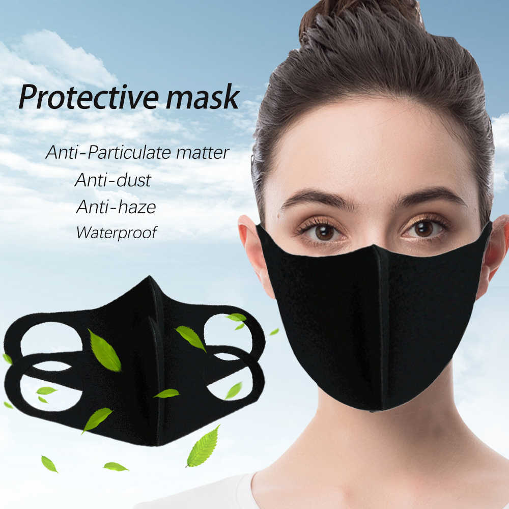 5PCS PM2.5 Cotton Anti Haze Anti-dust Anti-fog Mask Activated Carbon Filter Respirator Mouth-muffle Dropshipping