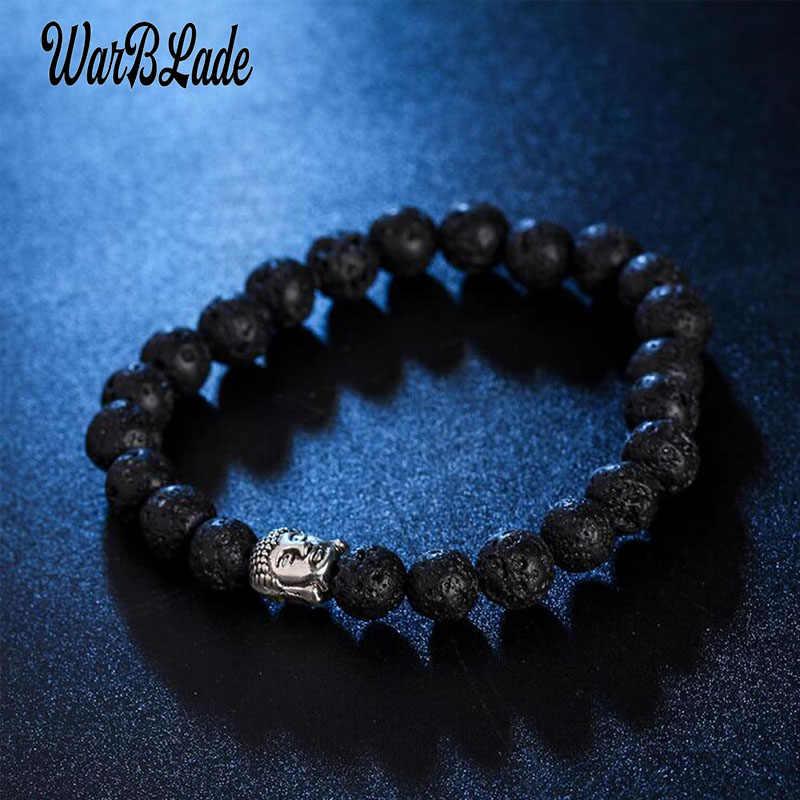 WBL 2019 แฟชั่นหินธรรมชาติลูกปัดลาวาสร้อยข้อมือ Vintage Charm ลูกปัด Obsidian Tiger eye สร้อยข้อมือกำไลข้อมือสำหรับผู้หญิง