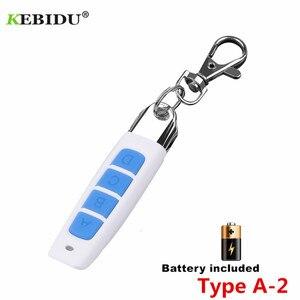 Image 3 - KEBIDU mando a distancia para puerta de garaje, 4 botones, 433MHZ, Control remoto automático, controlador de copias eléctricas, interruptor transmisor