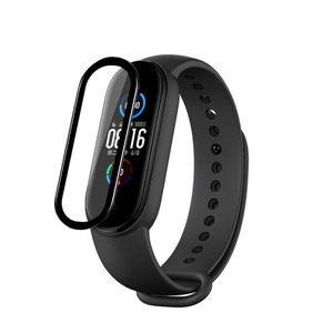 Image 1 - 3D Curved Edge Full Soft Clear Protective Film Smartband Cover For Xiaomi Mi Band 5/6 Band6 Miband6 LCD Screen Protector Guard