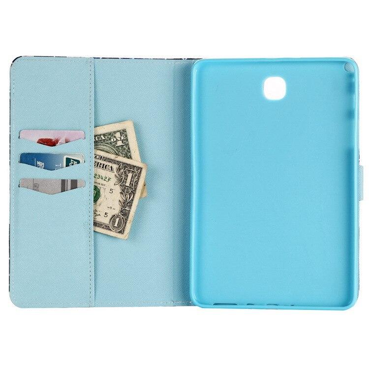 Anwendbar SAMSUNG T350 Farbige Zeichnung Halter Tablet-Computer Leder Hülse SAMSUNG Tablet Karte Instert Brieftasche Farbige Drawi
