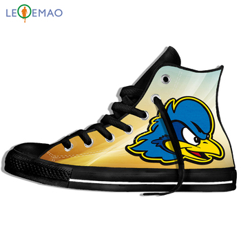 Walking Canvas Boots Shoes Breathable Delaware Fightin Blue Hens Wearable Comfort Sport Shoes Classic Sneakers image